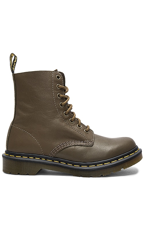 Dr. Martens Pascal 8 Eye Boots in Army
