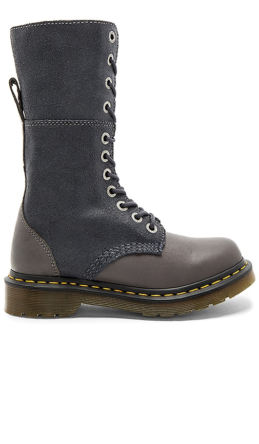 Dr. Martens Hazil Slouch Boots in Gray
