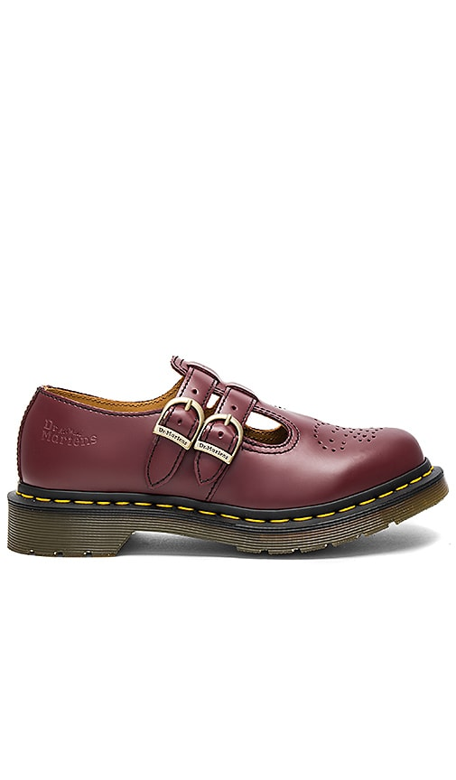 Dr. Martens Mary Jane Flats in Burgundy