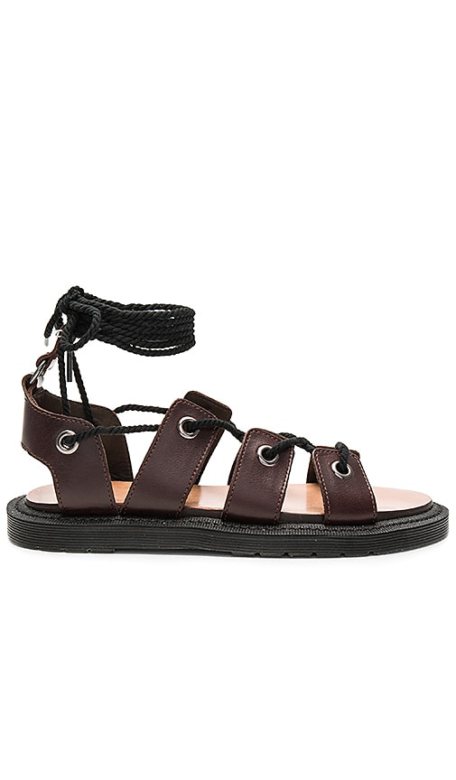 Dr. Martens Jasmine Ghillie Sandal in Chocolate Brown
