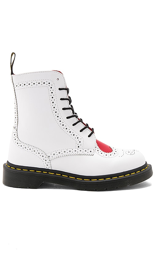 Dr. Martens Bentley II 8 Eye Boots in White
