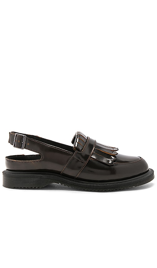 Dr. Martens Valentine Sling Back Tassel Loafer in Brown