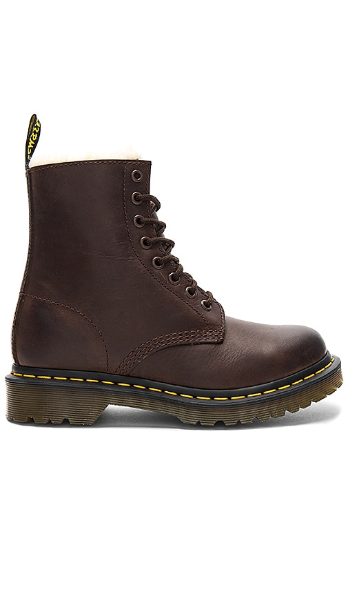 Dr. Martens Serena Faux Fur Boot in Brown