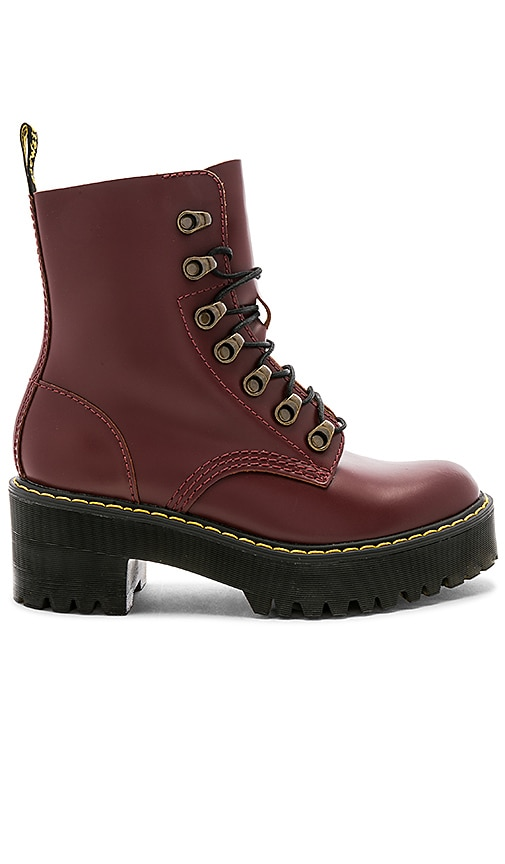 Dr. Martens Leona Boot in Burgundy