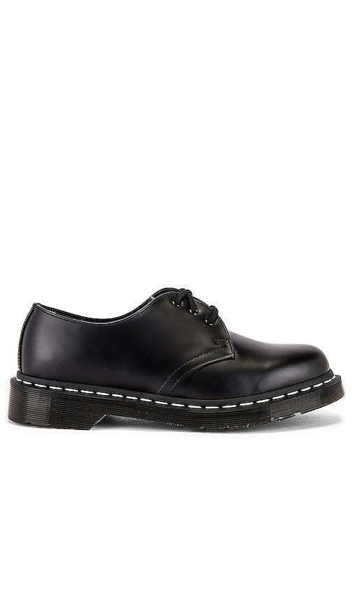 Dr. Martens 1461 White Stitch Shoe in