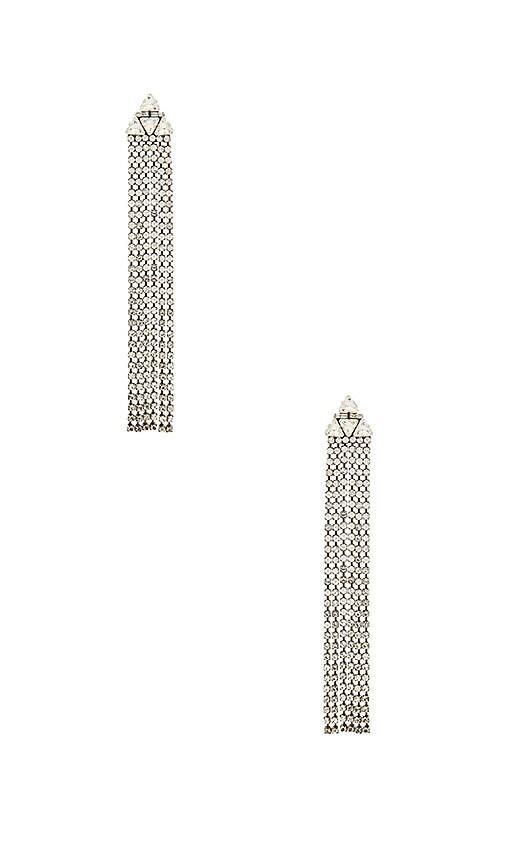 Dodo Bar Or Clarissa Earrings in Metallic Silver