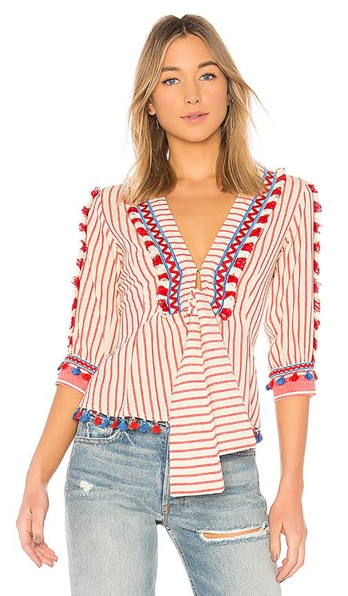Dodo Bar Or Skyler Shirt in Red