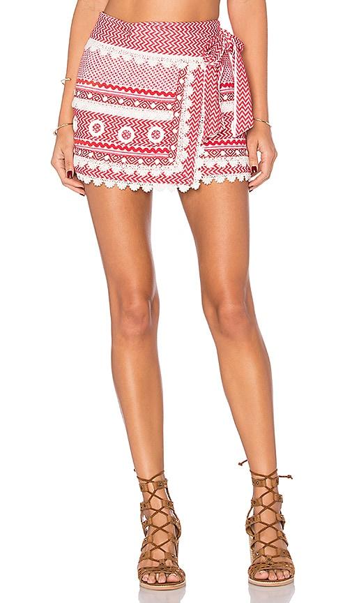 Dodo Bar Or Aviya Mini Skirt in Red