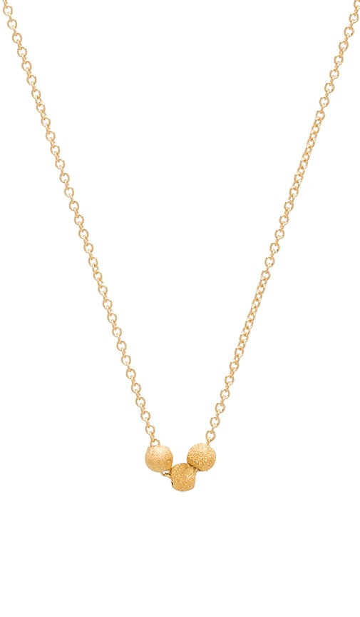 Dogeared Thank You 3 Wishes Stardust Necklace in Gold Dipped