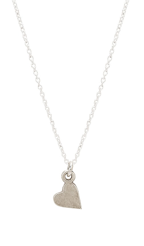Dogeared Bridesmaide Sideways Heart Necklace in Silver