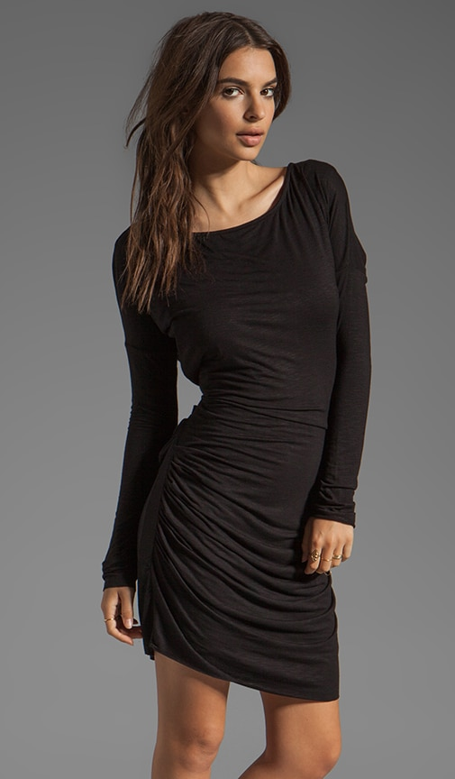 Slub Jersey Long Sleeve Mini Dress