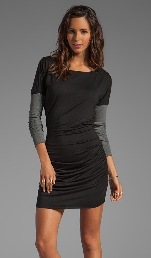 Lurex Rib Shirred Dress