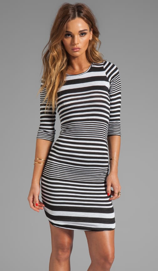 Shirred Stripe Dress