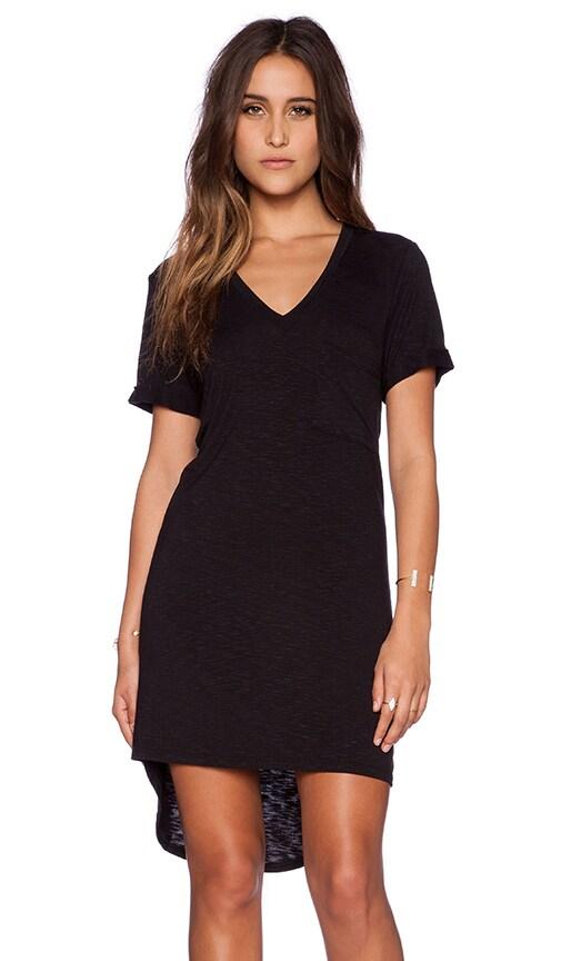 Rolled Sleeve V-Neck T-Shirt Dress