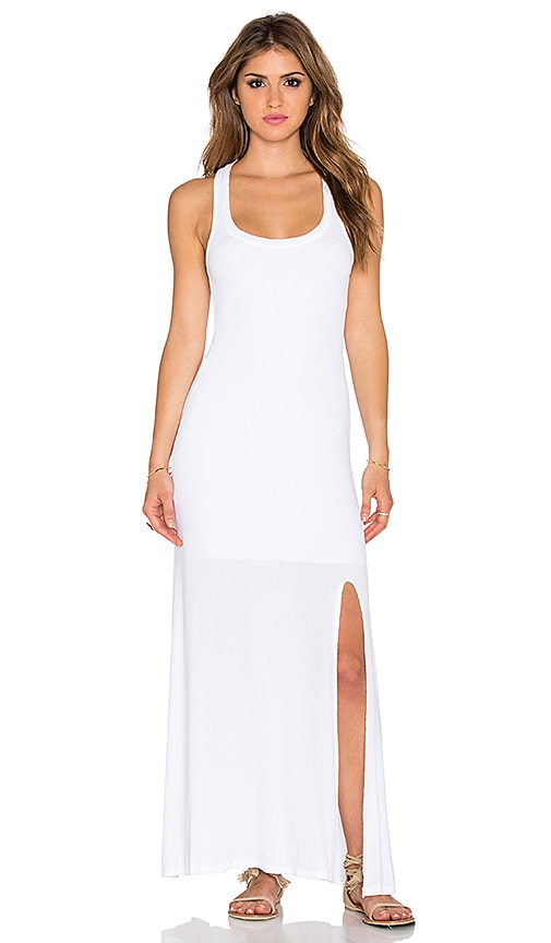 dolan Racerback Maxi Dress in White