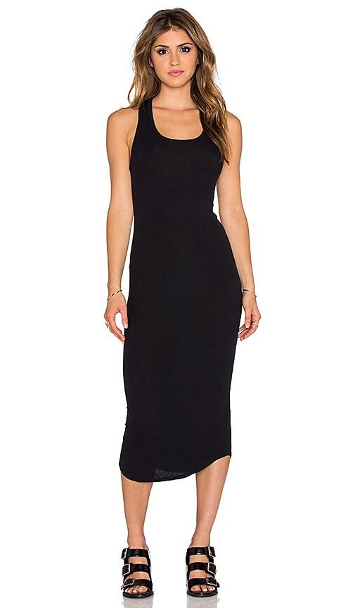 dolan Sleeveless Crew New Slip Dress in Black