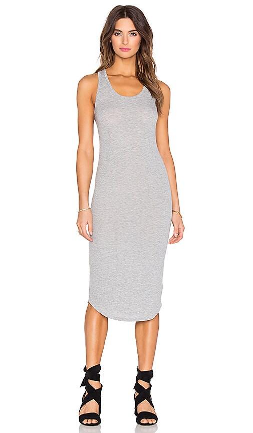 dolan Crewneck Slip Dress in Silver