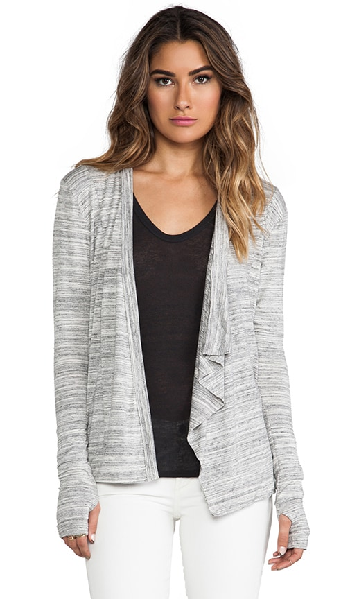 Long Sleeve Drape Front Cardigan