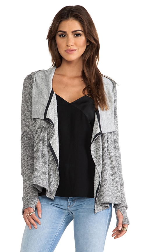 Hooded Draped Cardigan