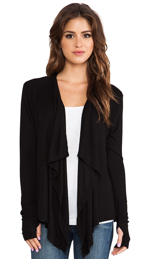 Long Sleeve Drape Neck Cardigan