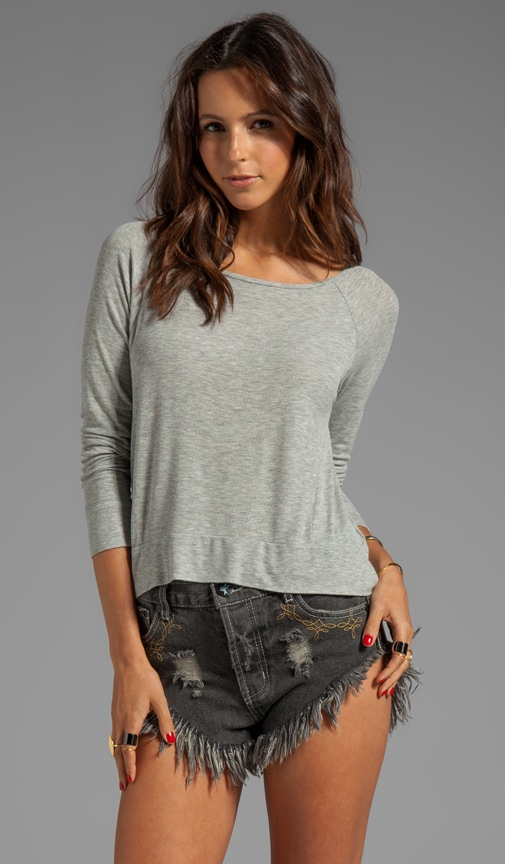 2x1 Rib Raglan Long Sleeve Tee