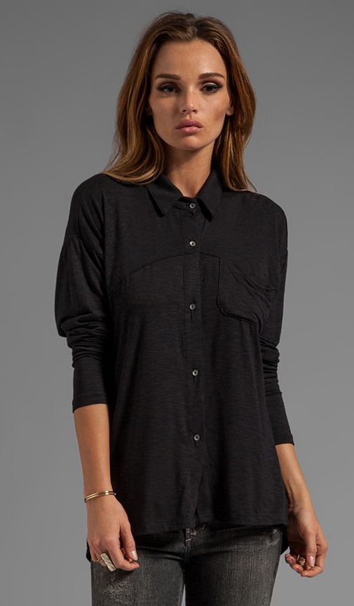 Long Sleeve Classic Collar Slouchy ButtonDown
