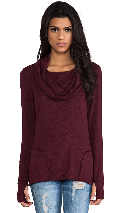 Cowl Neck Long Sleeve