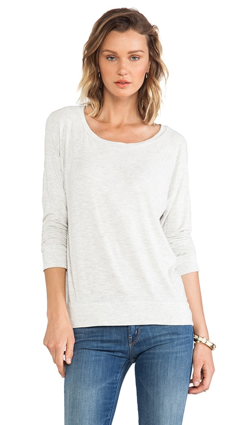 High Low Scoop Neck Tee