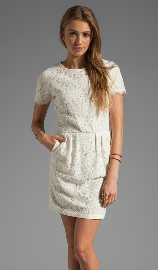 Sarus Raised Lace Short Sleeve Dress