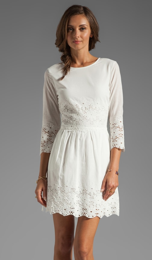 Val Hem Daisy Long Sleeve Dress