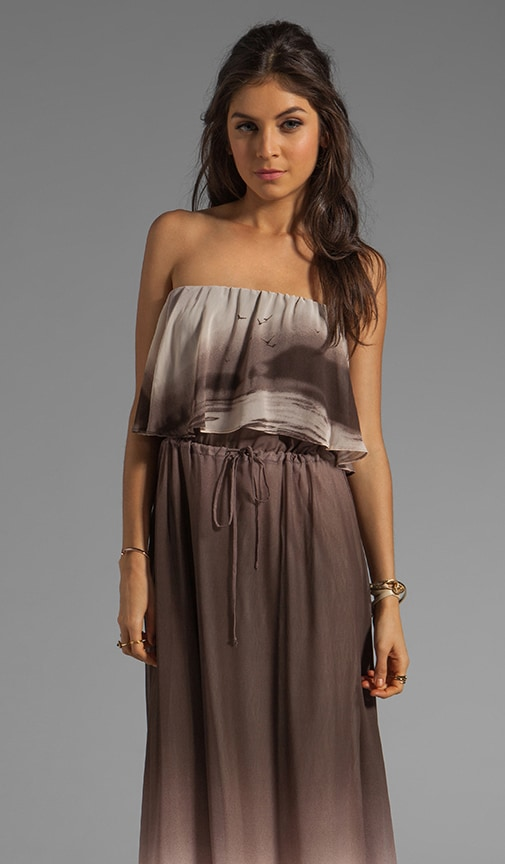 Fonda Beachscape Strapless Maxi Dress