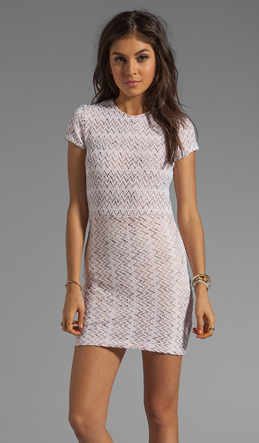 Ren Zigzag Crochet Short Sleeve Dress