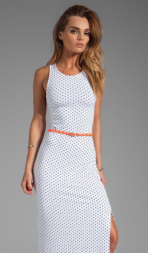 Lynnie Dot Jersey Maxi Dress