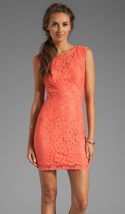 Trouble Neon Lace Dress