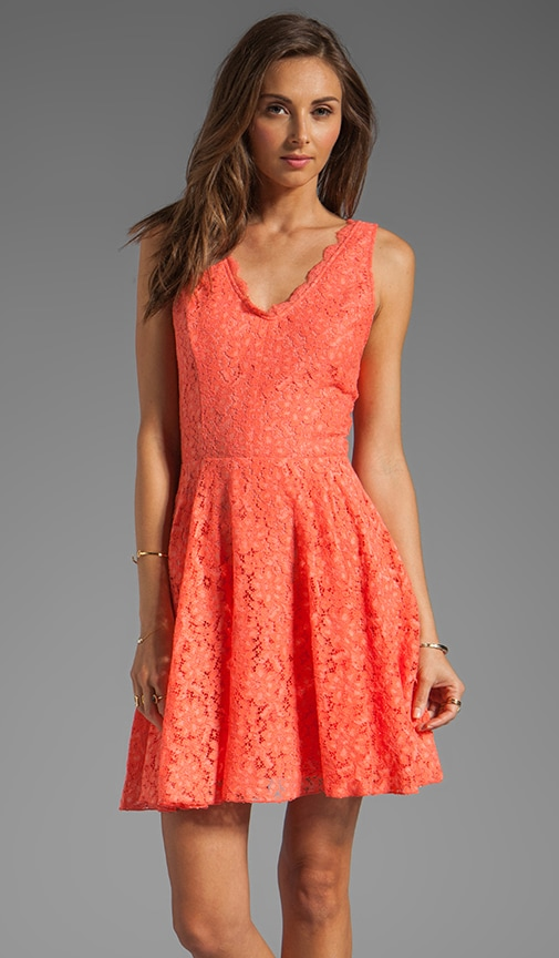 Thereza Neon Lace Mini Dress