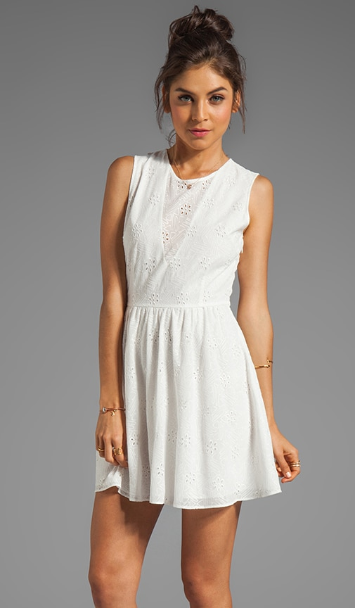 Delyth Eyelet Embroidery Tank Dress