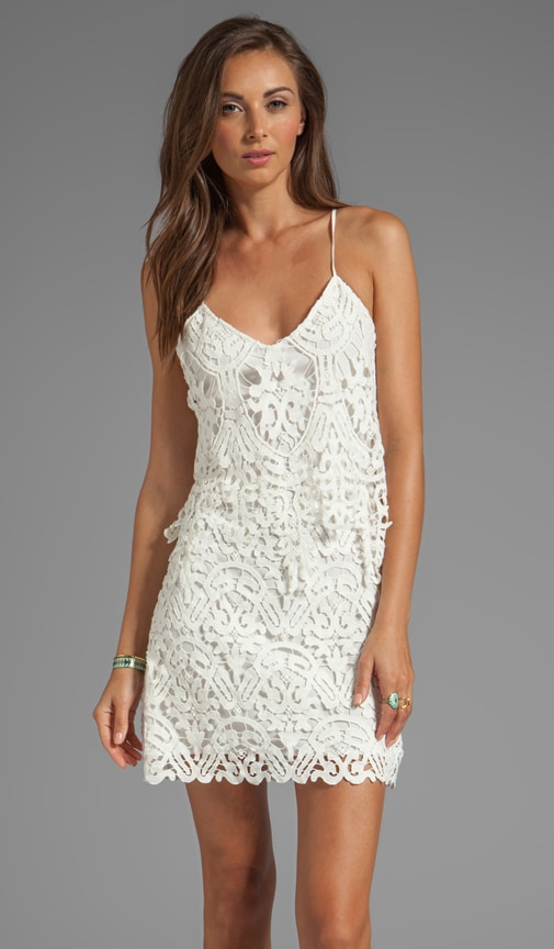 Jordinna Charleston Lace Spaghetti Strap Dress