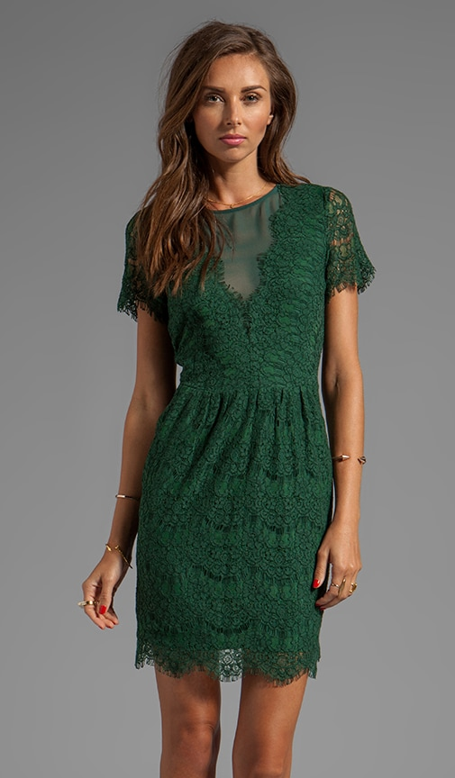 Saurus Eyelash Lace Dress