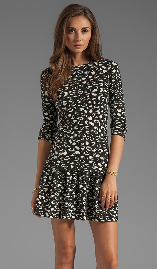 Meko Leopard Knit Dot Dress