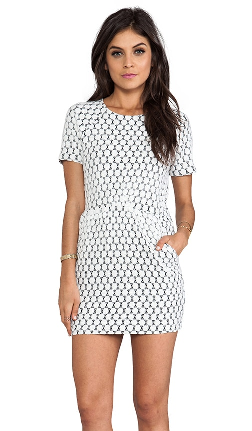 Ritsa Dot Zebra Lace Dress