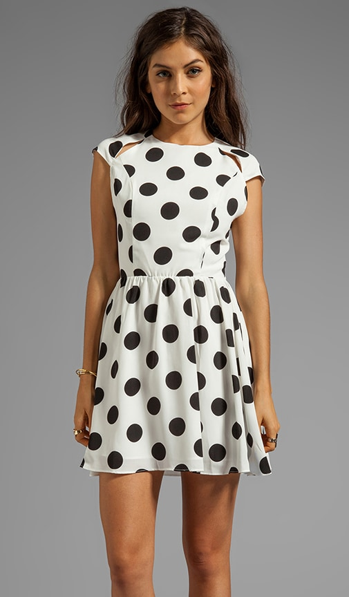 Alishia Rayon Dot Dress