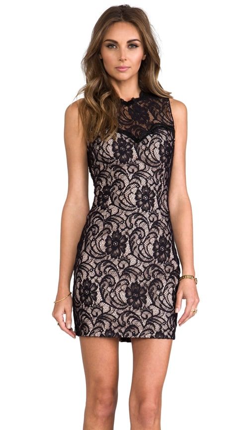 Abrianna Stretch Floral Lace Dress