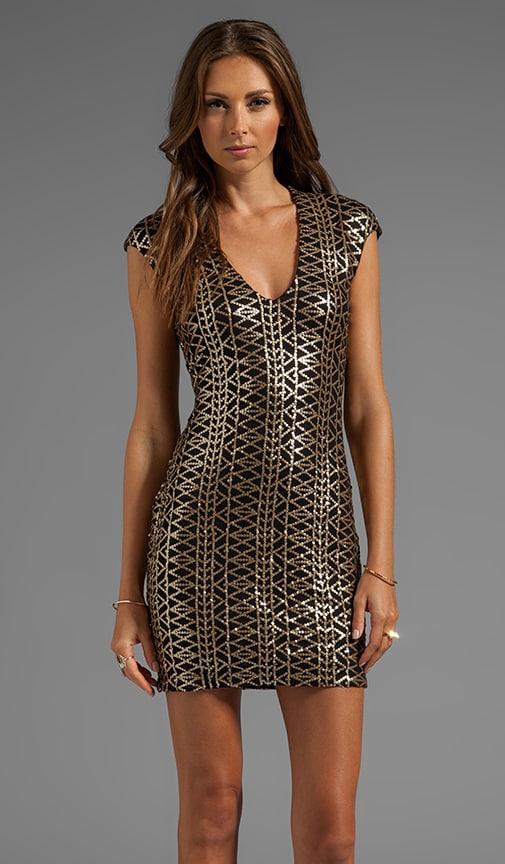 Dionna Tribal Sequins Dress