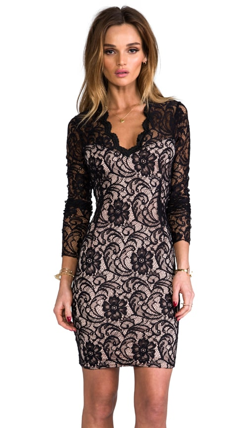 Annabel Stretch Floral Lace Dress