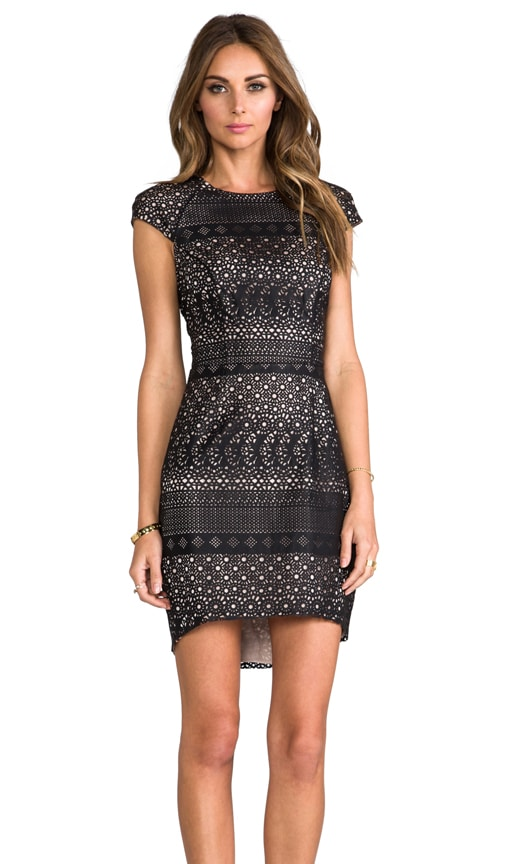 Wallis Laser Cut Faux Leather Dress