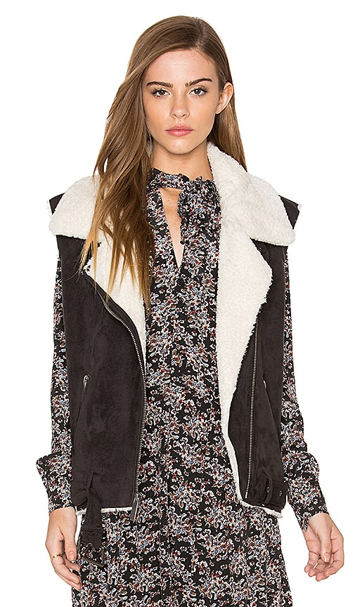 Dolce Vita Maelle Faux Fur Vest in Charcoal
