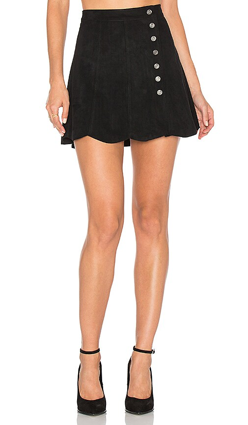 Dolce Vita Lucy Suede Skirt in Black