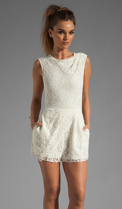 Jaida Raised Lace Romper