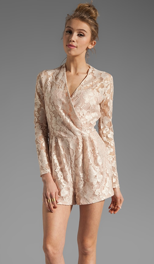 Clarice Stretch Lace Romper
