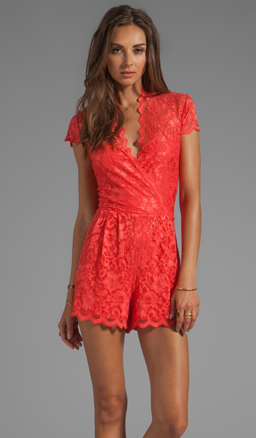 Clarita Victorian Lace Romper Dress